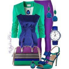 """#1 - ""JEWEL TONES"" - Emeralds, Sapphires & Amethyst"" by enjoyzworld on Polyvore"