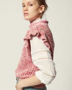 Long knit cardigan vest Hand knit sleveless cardigan Maxi vest short sleeve Peach cardigan waistcoat Short sleeve cardigan Flared cardigan