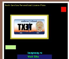 South carolina personalized license plate 141006 - The Best Image Search