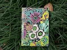 Doodle Art Book 11 - handmade book with doodle art cover - Hanamama2007