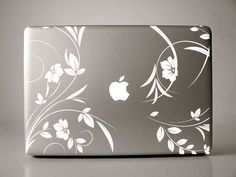 """Floral Decal - Lirenda - Macbook Pro Retina AIr Decal avilable for laptops in (11"""" 13"""" 15"""" 17"""") on Etsy, $11.99"""