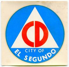 1950s-Vintage-Civilian-Defense-Decal-CD-CITY-OF-EL-SEGUNDO-CA