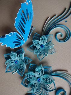 Paper Quilling Blank Greeting Card with 3D by TipTopArtShop