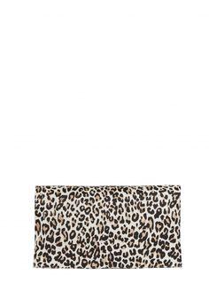 The Me Cheetah Printed Calf Hair Clutch by Alice + Olivia