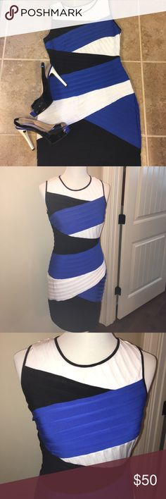 Calvin Klein bodycon dress- no need for spanyx Amazing fit that defines and lifts with no need for spanyx underneath!  Only worn once.  Side zip under arm. Calvin Klein Dresses Mini