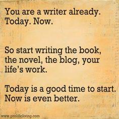 Get writing! #amwriting