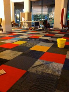 Julie Paterson used our Carpet Tiles in new clothfabric store on William St in Sydney's Eastern Suburbs.