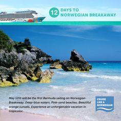On May 12th, Norwegian Breakaway will set sail for beautiful Bermuda!