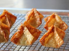 Crab Rangoon – Rhymes with Swoon --> Except replace crab with shrimp, or there'll be projectile vomiting....