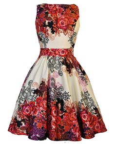 Red Rose Tea Dress