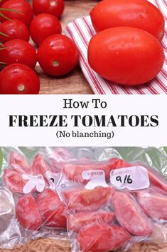 How To Select Little One Dresses How To Freeze Tomatoes No Blanching Divas Can Cook Freezing Tomatoes, Freezing Fruit, Freezing Vegetables, Frozen Vegetables, Fruits And Veggies, How To Freeze Tomatoes, How To Preserve Tomatoes, Do It Yourself Food, Frozen Meals