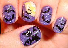 Cute Halloween themed nail art!