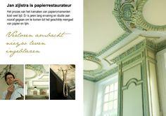 My beloved collegue, papier collé craftsman Jan Zijlstra, at Manor Westerlee. Photo by Lotte-Marijn
