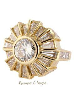 MyGoldenJewellery | TJS | Bulgari Diamond Gold Cocktail Ring |