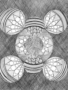 interstellar zentangle coloring page available as pdf for easy printing