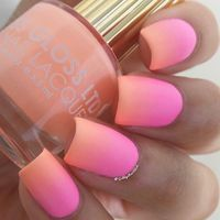 """Summery ombré using @flossgloss-""""Pony"""", @orlynails-""""Out-Take"""" and a Revlon matte top coat☀️"""
