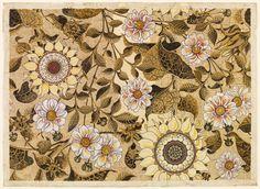 "Buttery -- 'The Sunflower' wallpaper, Bruce James Talbert, 1878. Victoria & Albert Museum, ""The Cult of Beauty"" exhibition 2011"