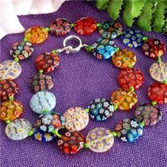 you can see more details information about it at Amazplus, just click the following link for: Millefiori Murano Halskette + Gratis Kristall Glas Armband