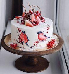 Was für ein Kuchen! Wie ein Hauch von Winter - Creative Food / Еда и творчество - Kuchen Pretty Cakes, Beautiful Cakes, Amazing Cakes, Simply Beautiful, Food Cakes, Cupcake Cakes, Cake Cookies, Fancy Cakes, Savoury Cake