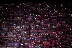 Windows of the red houses at Larung Gar Buddhist Academy glow late at night. monks and nuns study at Larung Gar which is located in Seda, Garze Tibetan Autonomous Prefecture in Sichuan, China. Red Houses, Sleep Early, The Monks, Photography Contests, Sandbox, After Dark, Travel Photographer, City Photo, Beautiful Pictures