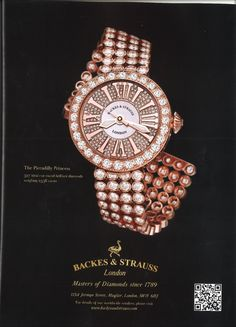 The Piccadilly Princess Rose gold - a Backes & Strauss masterpiece and a real jewel on the wrist - For more information, visit www.backesandstrauss.com
