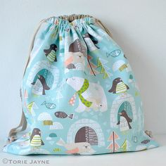 Drawstring backpack tutorial