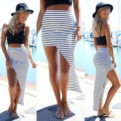love maxi skirts but would love the slit as well to make it a little bit cooler :)