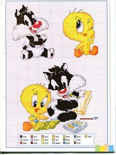 Bebê Tweety e Sylvester bebê