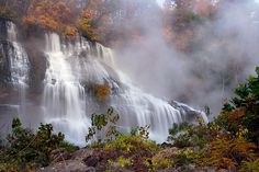 Early morning at Rock Island Vacation Places, Dream Vacations, Vacation Spots, Places To Travel, Oh The Places You'll Go, Places To Visit, Rock Island State Park, Beautiful Waterfalls, Parcs