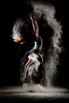 Ballet. Dust in the air. Incredible concept and photography.