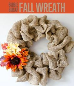 DIY Burlap Bubble Wreath | This is an easy wreath to make that will look lovely at your door. #DIYReady DIYReady.com by kinda.conger