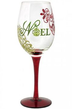 Contemporary Hand-Painted Wine Glass