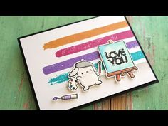 Mama Elephant Lil' Painters + Icon Letters - YouTube