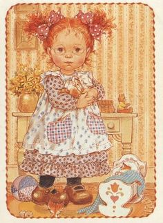 Sarah Key, Holly Hobbie, Decoupage, Vintage Pictures, Pretty Pictures, Mary May, Gata Marie, Vintage Drawing, Sweet Pic