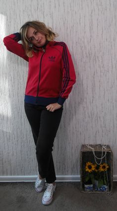 Vintage Tracktop Tracksiut Adidas by SweetSpicyVintage on Etsy