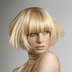 Hair style golden.
