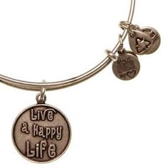 November's Bangle of the Month - Alex and Ani Live a Happy Life Expandable Wire Bangle Russian Silver. $5-off AND FREE SHIPPING