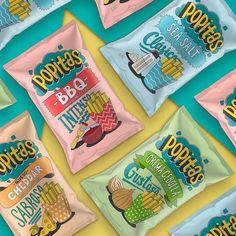 Popcorn Packaging, Packaging Snack, Cool Packaging, Food Packaging Design, Packaging Design Inspiration, Brand Packaging, Snack Brands, Popcorn Bags, Creamy Cheese