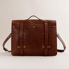 Montague leather satchel, by J. Crew