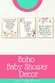 This feather Scripture printable set would be the perfect addition to your baby girl's boho themed nursery. It would also make a great baby shower or baptism gift. Boho Nursery, Nursery Wall Art, Girl Nursery, Nursery Decor, Christian Wall Art, Christian Gifts, Nursery Themes, Themed Nursery, Boho Baby