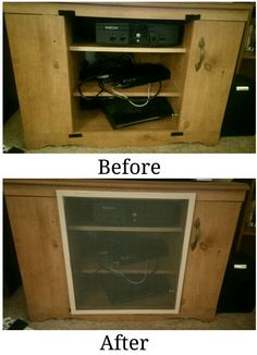 Had a great idea to baby proof open tv stands. I found a screen at habitat for humanity, added a little duck tape on the edge for appearence and some Velcro, and vwah-lah! Instantly baby proofed and can be removed for access. Toddler Proofing, Baby Proofing Ideas, Mom And Baby, Baby Kids, Baby Play Areas, Baby Life Hacks, Diy Tv Stand, Childproofing, Baby Safety