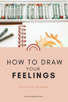 Easy art therapy activity for beginners on how to draw your feelings and paint y. - Easy art therapy activity for beginners on how to draw your feelings and paint your emotions using - Feelings Activities, Art Therapy Activities, Simple Art, Easy Art, Drawing Feelings, Mindfulness Art, Mindfulness Training, Oil Pastel Art, Oil Pastels