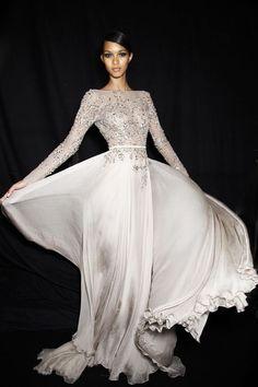 Photos des coulisses du défilé Elie Saab Haute Couture automne-hiver 2013-2014