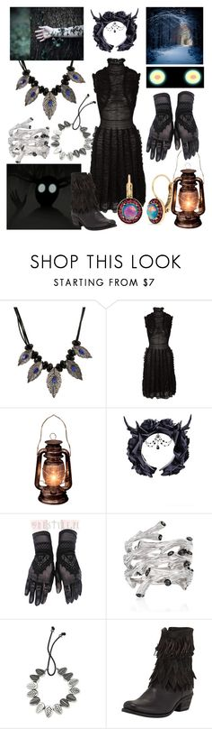 """""""The Beast from Over the Garden Wall"""" by vicipokemon ❤ liked on Polyvore featuring Alexander McQueen, Michael Aram, NOVICA, MIA and Betsey Johnson"""
