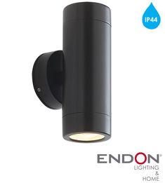 Endon 'Odyssey' 2 Light Outdoor Wall Light, Satin Black Paint & Clear Glass - None Entry Ways, Outdoor Wall Lighting, Clear Glass, Wall Lights, Satin, Exterior, Inspiration, Painting, Black