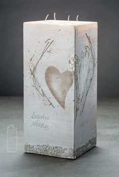 Wedding candle Monika - crafts & gifts Source by tinmil Candels, Pillar Candles, Beautiful Candles, Candle Making, Craft Gifts, Gifts For Women, Candle Holders, Bouquet, Presents