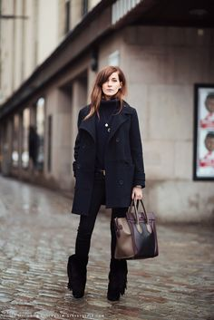 still loving black on blue (would skip the fringed boots though)