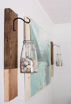 Seashell and Glass Bottle Hanging Decor
