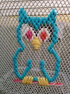 Needlepoint bike basket embellishment by me, Susie Qute!