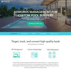 Responsive Website Development for Digital Marketing agency, USA AquaClix Mobile Responsive, Website Design Company, Pool Builders, Custom Pools, Lead Generation, Design Development, Digital Marketing, Web Design, Management